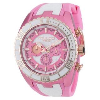 Mulco Women's Pink/ White Chronograph Swiss Watch