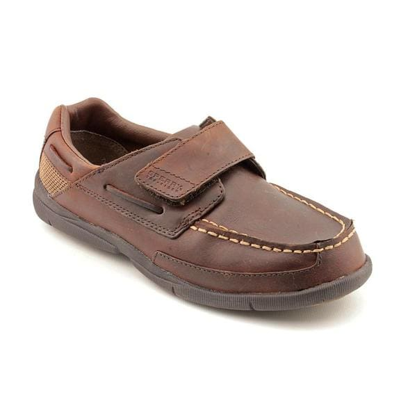 Sperry Top Sider Boy (Youth) 'Charter H&L' Leather Dress Shoes - Wide (Size 4 )