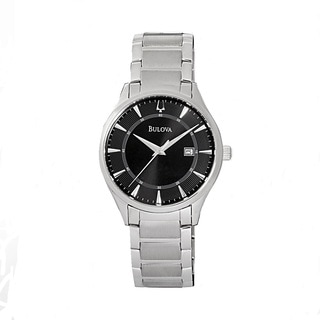 Bulova Men's 96B184 Stainless Steel Black Quartz Watch