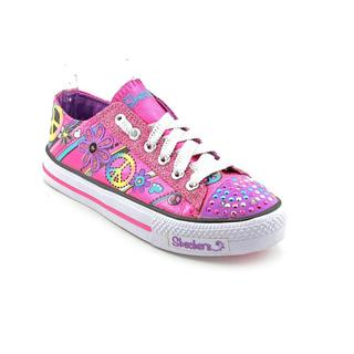 Twinkle Toes By Skechers Girl (Youth) 'S Lights-Shuffles-Jump N Joy' Canvas Athletic Shoe