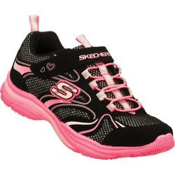 Girls' Skechers Lite Kicks Sprinterz Black/Neon Pink