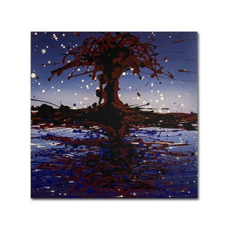 Roderick Stevens 'Lake Tree' Canvas Art