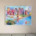 Richard Wallich 'Sanfran 1' Canvas Art