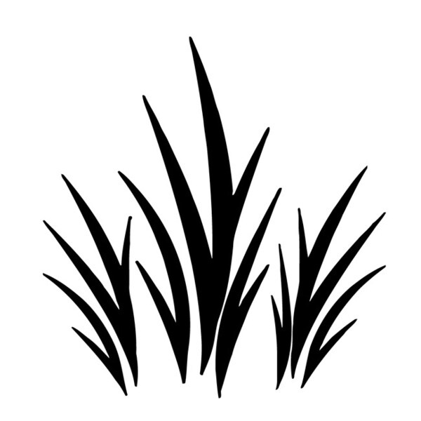 Grass Plant Wall Vinyl Sticker Decal Art