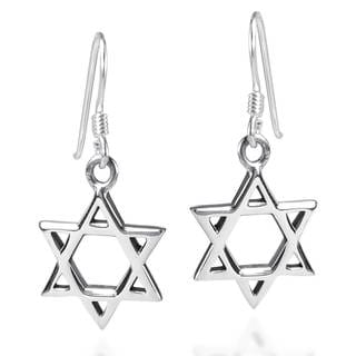Mystical Star of David .925 Sterling Silver Earrings (Thailand)