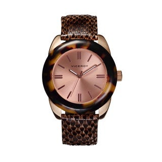 Viceroy Women's Luminous Hands Brown Leather Watch