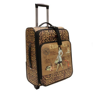 Nicole Lee Cleo Print Collection 20-inch Carry On Cosmetic Rolling Expandable Upright