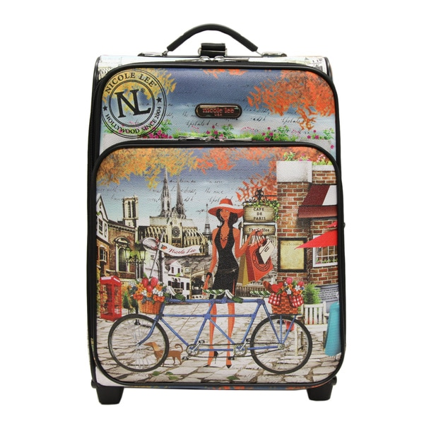 Nicole Lee Cleo Print Collection 20-inch Bicycle Carry On Rolling Expandable Upright