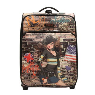 Nicole Lee Gina Print 21-inch Expandable Rolling Carry-on