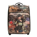 Nicole Lee Gina Print 21 inch Expandable Rolling Carry-on
