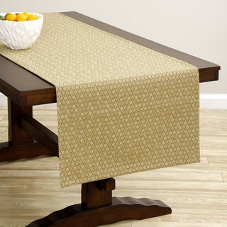 Extra-wide Gold Dot Italian Woven Table Runner