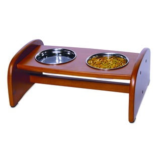 Richell Small 3-cup Capacity Pet Food Pedestal