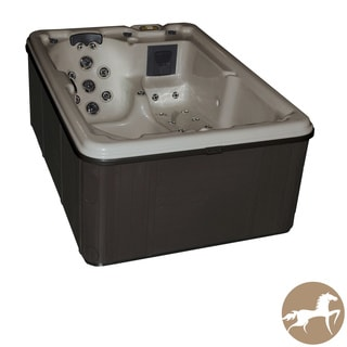 Christopher Knight Home Spa LS 400 with Opal Shell and Charcoal Cabinet