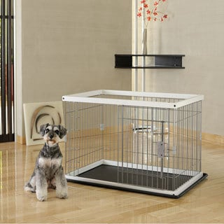Richell Origami White Two-Way Pet Door Pet Pen