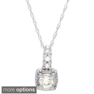 14k Gold 1/4ct TDW Diamond Necklace (G-H, SI1-SI2)
