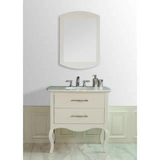 Elizabeth 37-inch Italian Carrara Marble Top Single Sink Vanity