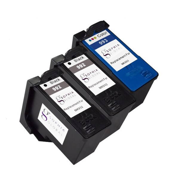 Sophia Global Remanufactured Ink Cartridge Replacement for Dell MK992 and MK993 Series 9 (Pack of 3)