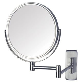 Jerdon 8-inch Two-Sided 5x Wall Mount Mirror in Nickel