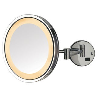 Jerdon 9.5-inch 5x LED Lighted Wall Mount Mirror in Chrome