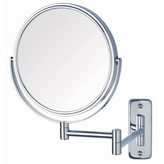 Jerdon 8-inch Two-Sided 5x Wall Mount Mirror in Chrome