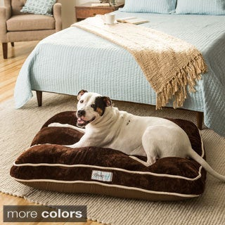 Beautyrest Channel Top Napper Rectangle Pet Bed