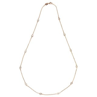 Neda Behnam DFAC 14k Rose Gold 1ct TDW Diamond Station Necklace (G-H, SI1-SI2)