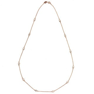 Neda Behnam DFAC 14k Rose Gold 3/4ct TDW Diamond Station Necklace (G-H, SI1-SI2)