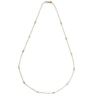 Neda Behnam DFAC 14k Rose Gold 1/2ct TDW Diamond Station Necklace (G-H, SI1-SI2)