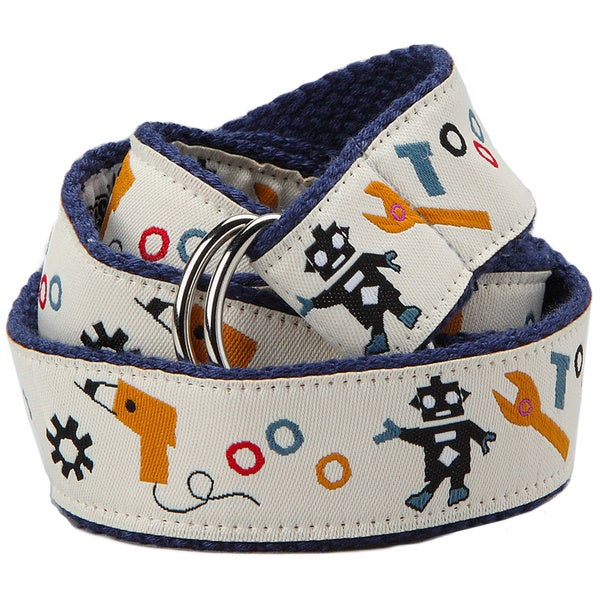 Superflykids 'Bots N Bolts' Printed D-ring Belt