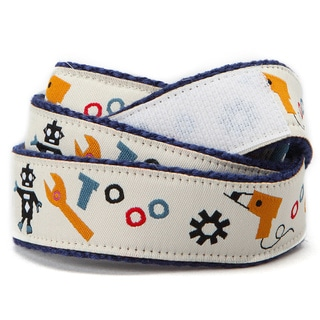 Superflykids 'Bots N Bolts' Cream Printed Hook-and-loop Belt