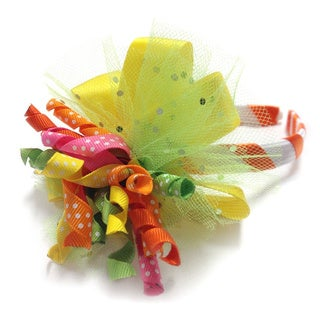 Superflykids Yellow and Lime Sparkly Deluxe Headband