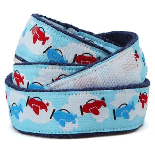 Superflykids 'Jetstream' Blue Printed Hook-and-loop Belt