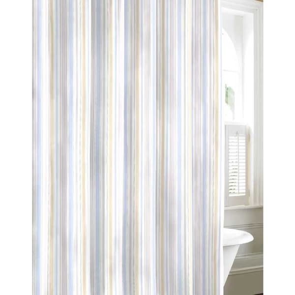 Laura Ashley Sommerset Neutral Cotton Shower Curtain