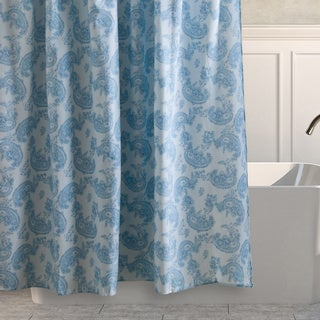 Laura Ashley Kingsley Sky Cotton Shower Curtain