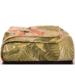 Tommy Bahama Tropical Orchid Quilted Throw