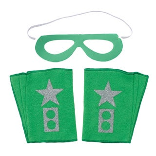 Superflykids Green Superhero 3-piece Cuff and Mask Set