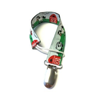 Superflykids 'Farm Friends' Pacifier Clip