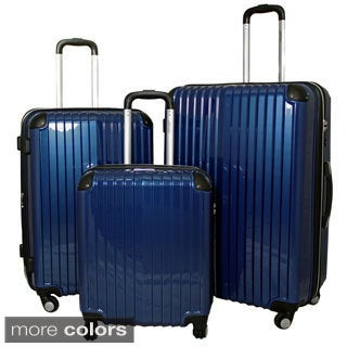 World Traveler 3-piece Hardside Lightweight Expandable Luggage TSA Lock Spinner Upright