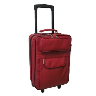 Rozanne Leather 22-inch Expandable Carry On Pullman