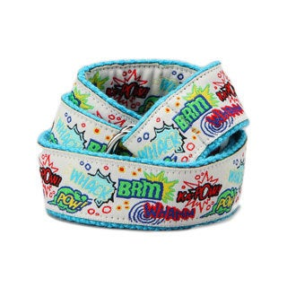 Superflykids 'Kapow' White Printed D-ring Belt