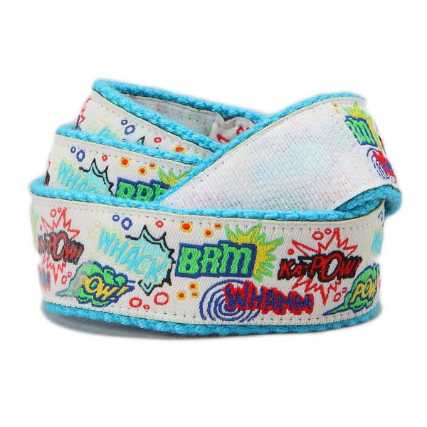 Superflykids 'Kapow' White Printed Hook-and-loop Belt
