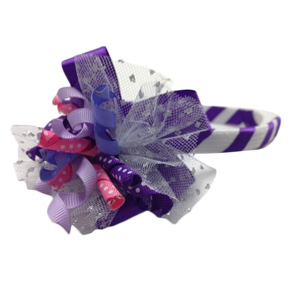 Superflykids 'Purple Pizazz' Deluxe Korker Headband