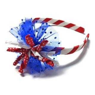 Superflykids 'Firecracker' Blue Deluxe Korker Headband