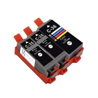 Sophia Global Canon PGI-35 and CLI-36 3-piece Compatible Ink Cartridge Replacement Set