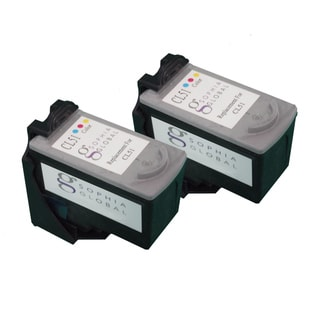 Sophia Global Remanufactured Color Ink Cartridge Replacement for Canon CL-51 (Pack of 2)