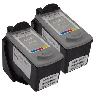 Sophia Global Remanufactured Color Ink Cartridge Replacement for Canon CL-41 (Pack of 2)