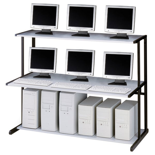 Mayline Netstart 62-inch 3-shelf LAN Support Station