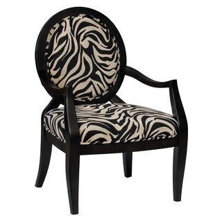 Rayas Zebra Oval-back Accent Chair