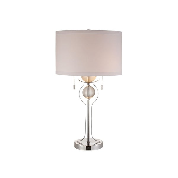 Symmetry 2-light Chrome Crystal Table Lamp