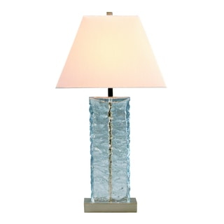 Astoria Glass 1-light Brushed Nickel Table Lamp